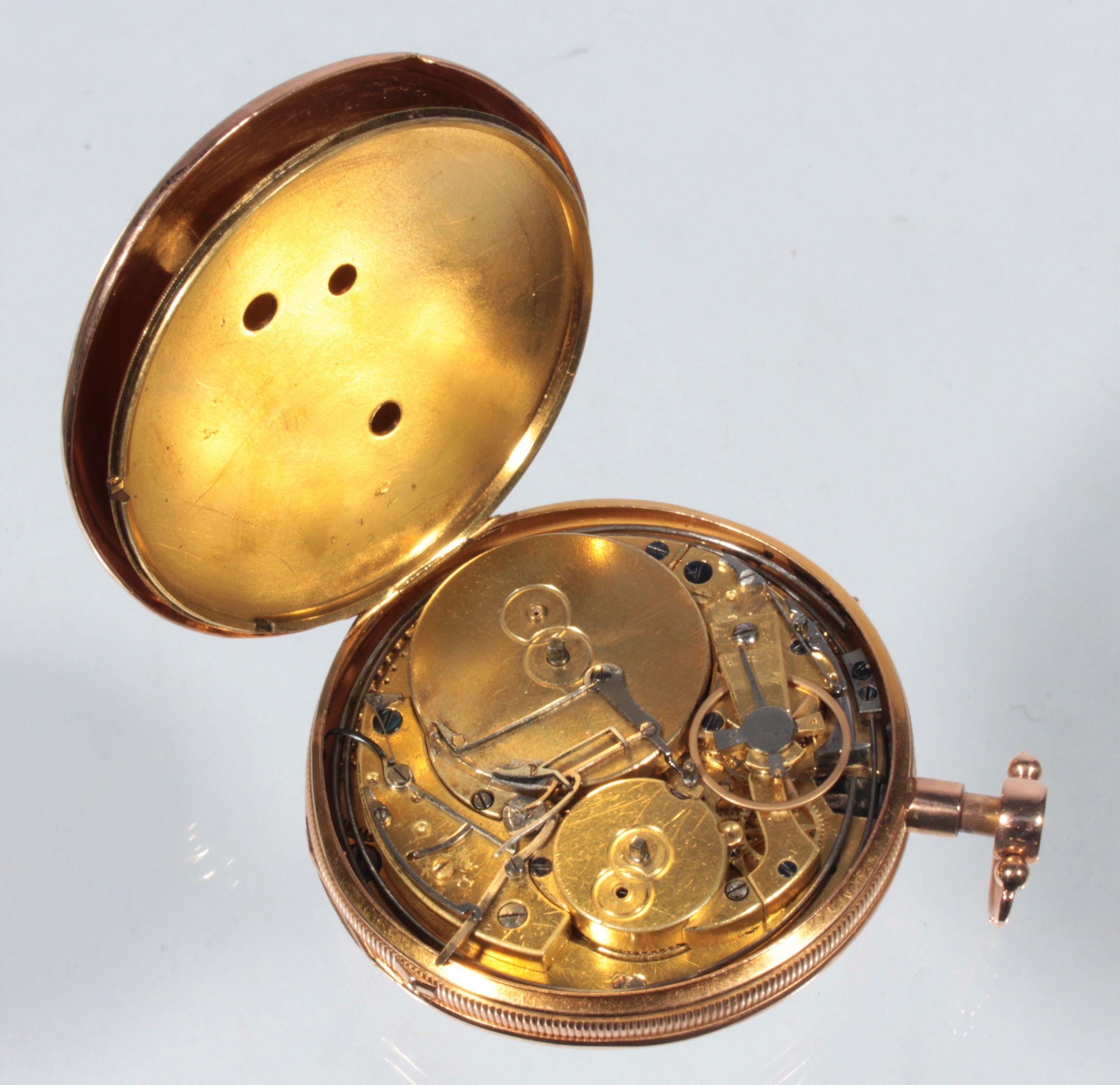 ac8ccfbbc Hrací a bicí zlaté kapesní hodinky Achard & fils Geneve   5. Aukce ...