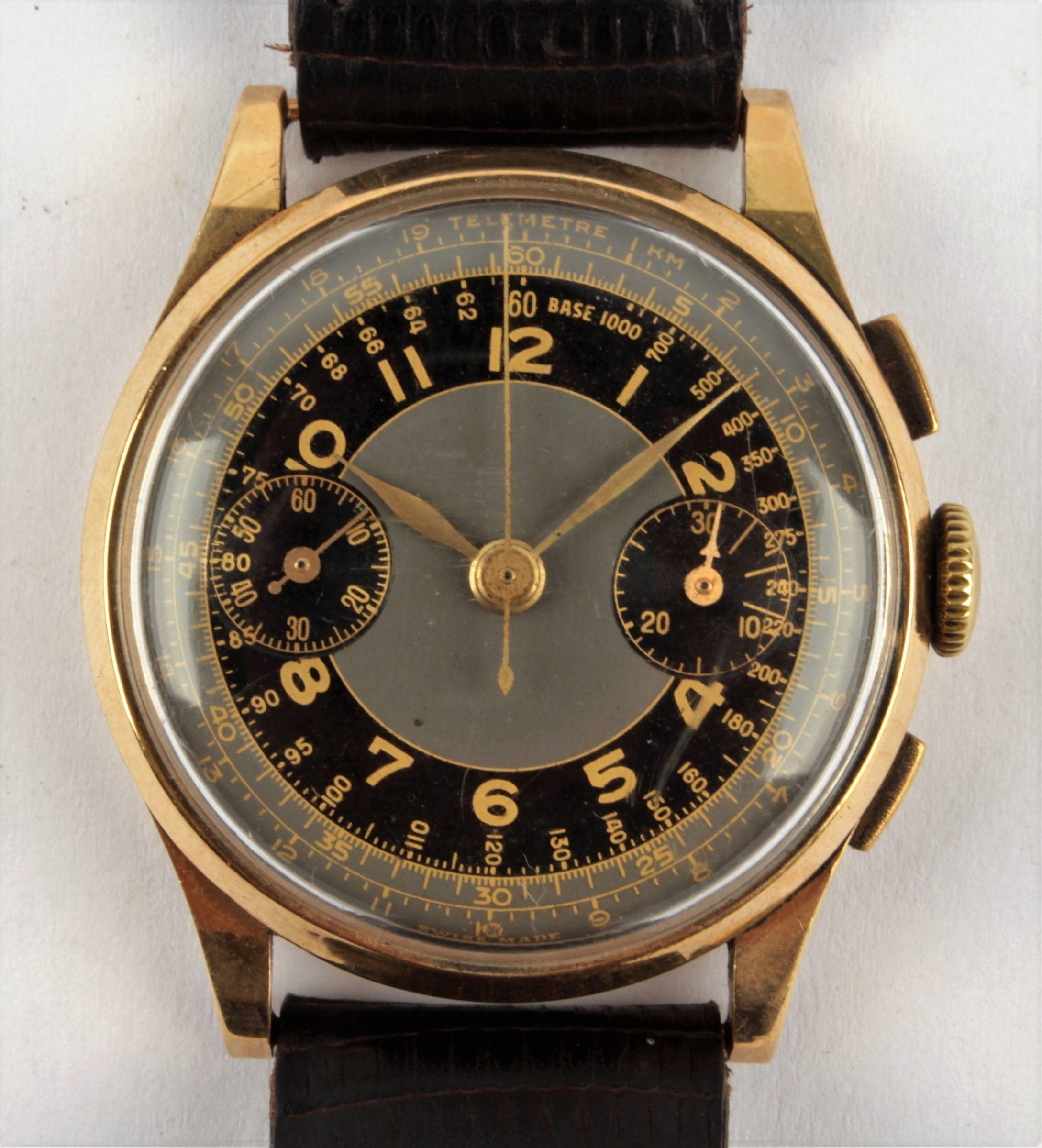 Zlaté náramkové hodinky - chronograf  a91ea89930b