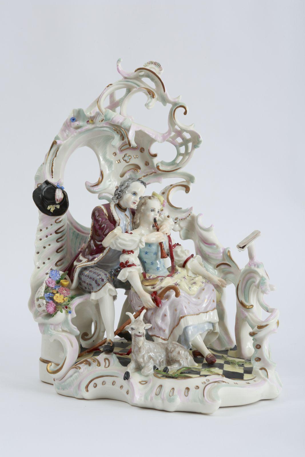 Rococo Porcelain Sculpture Nymphenburg Porcelain Pottery