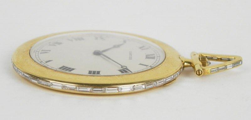 Zlaté kapesní hodinky Cartier zdobené diamanty  94d0baa2238